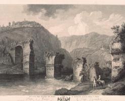 Георг Абрахам Хаккерт. Второй вид руин моста Августа в Нарни