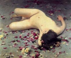 Рамон Касас Карбо. Nude woman