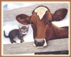 Лоуэлл Эрреро. Корова и котенок
