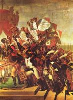 Жак-Луи Давид. Присяга войска императору после раздачи знамен на Марсовом поле в Париже 5 декабря 1804. Фрагмент II