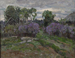 Boris Petrovich Zakharov. Evening. Lilac. (Sketch )