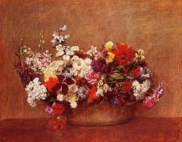 Анри Фантен-Латур. Цветы в миске