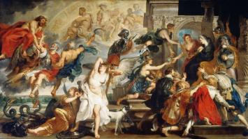 Питер Пауль Рубенс. Смерть Генриха IV и провозглашениe регентства