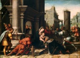 Бернард ван Орлей. Поклонение волхвов