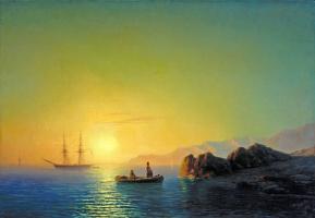 Иван Константинович Айвазовский. Закат солнца у крымских берегов