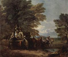 Томас Гейнсборо. Собранный урожай, лежащий на повозке