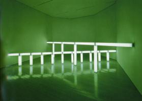 Дэн Флавин. Зелёные пересекают зелёные
