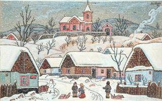 Йозеф Лада. Снег