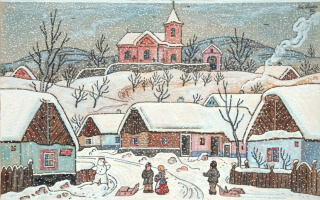 Josef Lada. Snow