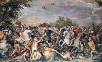 Чезари Джузеппе (Кавалер д'Арпино). Битва против жителей Вейи и Фиден. 1598-1601 фреска
