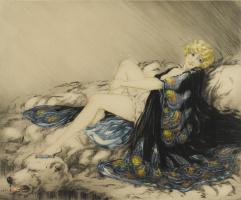 Икар Луи Франция 1888 - 1950. Шелковый халат. 1926