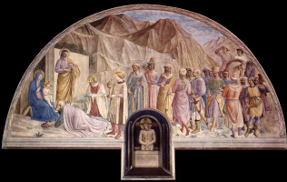 Fra Beato Angelico. Adoration of the Magi. Fresco of the Monastery of San Marco, Florence