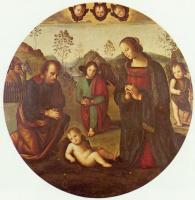 Пьетро Перуджино. Рождение Христа, тондо
