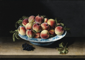 Still life with peaches in China.1629