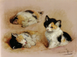 Генриетта Роннер-Книп. Этюд с котенком