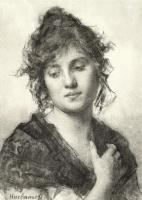 Алексей Алексеевич Харламов. Портрет молодой женщины.