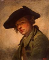 Жан-Батист Грёз. Портрет молодого человека в шляпе