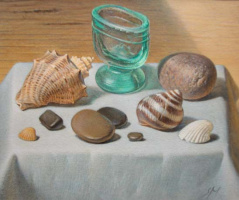 Sergey Alekseevich Makarov. Still life with seashells and pebbles