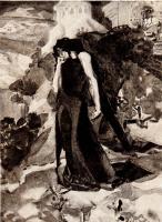 Михаил Александрович Врубель. Демон у стен монастыря. Иллюстрация к поэме М.Ю. Лермонтова «Демон»