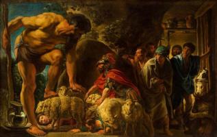 Якоб Йорданс. Одиссей в пещере Полифема