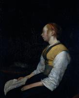 Герард Терборх. Девушка в крестьянском костюме