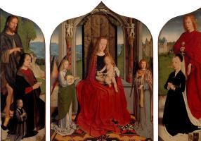 Герард Давид. Мария с младенцем среди музицирующих ангелов