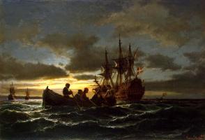 Антон Мельби. Море ночью