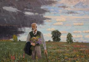 Евгений Александрович Казанцев. П.И. Чайковский. В поле.