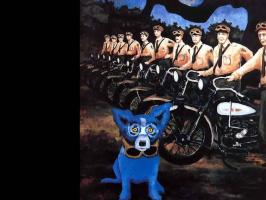 Джордж Родриг. Голубая собака020