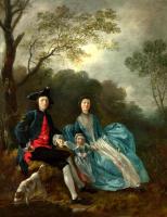 Томас Гейнсборо. Автопортрет с женой Маргарет и старшей дочерью Мэри
