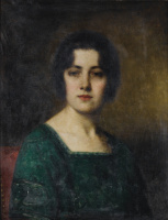 Алексей Алексеевич Харламов. Портрет мадам Феретте. 1921