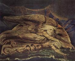 Уильям Блейк. Иллюстрации к Библии. Элохим создал Адама из праха