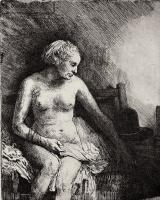 Рембрандт Харменс ван Рейн. Обнажённая с лежащей рядом шляпой