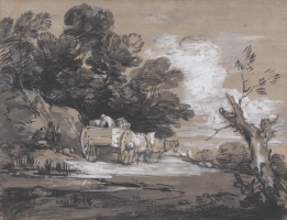 Thomas Gainsborough. Forest landscape with a peasant wagon