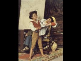 Луиджи Бечи. Мальчик читает новости