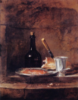 Жан Батист Симеон Шарден. Оставленный обед или серебряный кубок