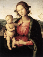 Пьетро Перуджино. Мадонна с младенцем Боргезе