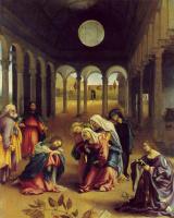 Лоренцо Лотто. Христос прощается с матерью