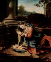 Антонио Корреджо. Мария, поклоняющаяся младенцу
