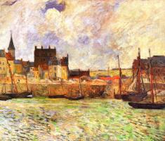 Paul Gauguin. View of the harbour, Dieppe