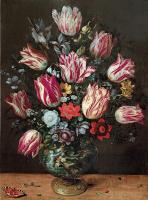 Франс Франкен Младший. Ваза с цветами.  (совм с Andries Daniels)  1620-1625