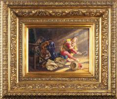 Валерий Иванович Якоби. Шут с обезьянкой. 1870-е