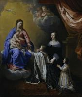 Филипп де Шампень. Людовик XIV с его короной и скипетром и Богоматерь с младенцем