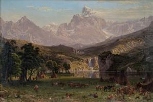 Rocky mountains, lander peak