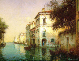 Антуан Бувар. Лодка на воде