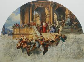 Михаил Иванович Скотти. «Христос перед народом. Незаконченная картина»