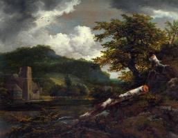 Якоб Исаакс ван Рейсдал. Пейзаж с разрушенными зданиями