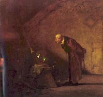 Karl Spitzweg. The alchemist