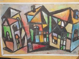Nino Archilovna Givishvili. Цветные домики.