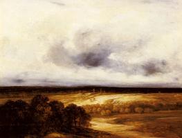 Жорж Мишель. Обширный пейзаж с ветряными мельницами